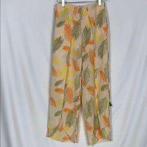 Essue tropical wide legged pants size Sm.